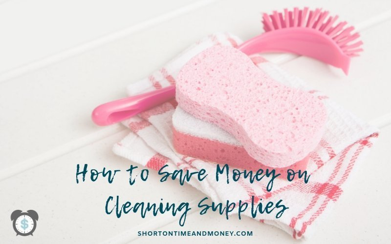 How to Save Money on Cleaning Supplies | Household Cleaners | Free Printable @ ShortOnTimeAndMoney.com