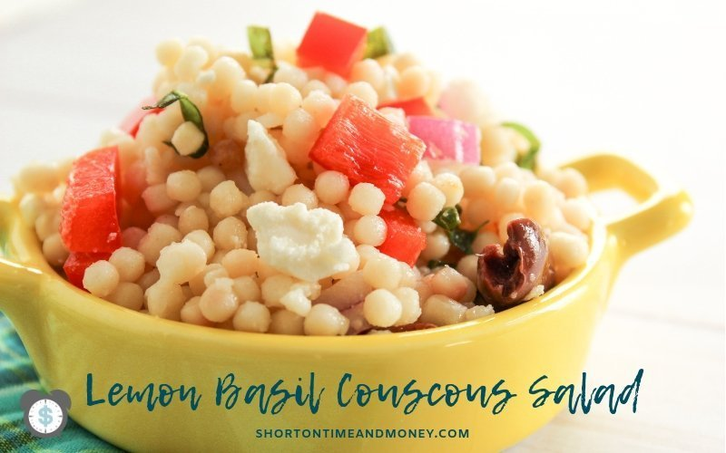 Simple, Quick and Easy | Lemon Basil Couscous Salad Recipe @ ShortOnTimeAndMoney.com