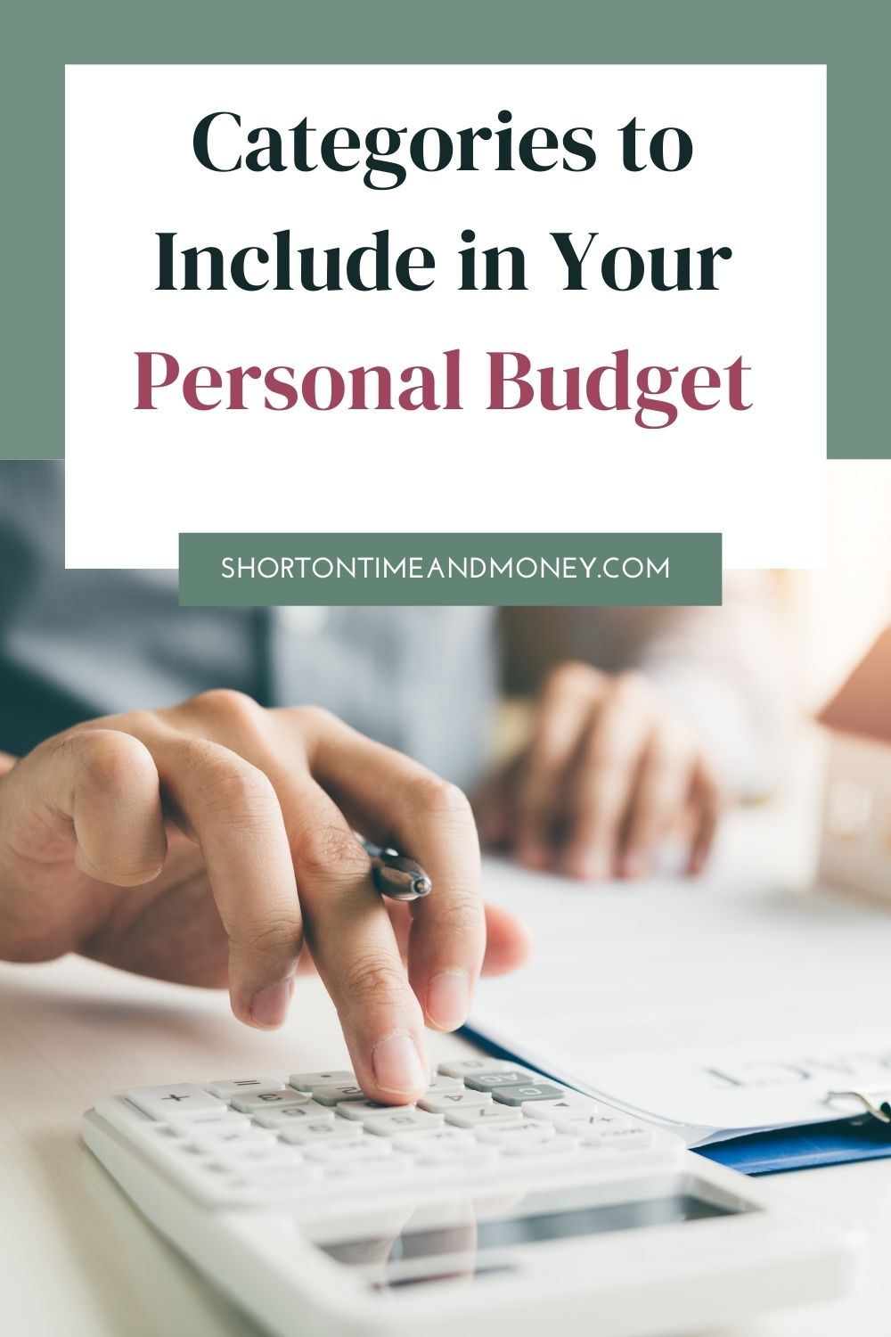 Categories to Include in Your Personal Budget @ Short on Time and Money